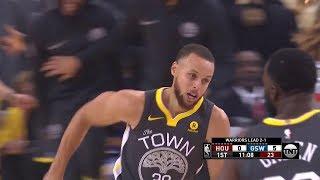 Warriors Start Off with 12-0 Run - Game 4   Rockets vs Warriors   2018 NBA West Finals