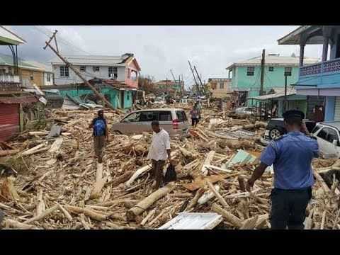 Hurricane Maria reduces Dominica to rubble - Puerto Rico is plunged into total darkness