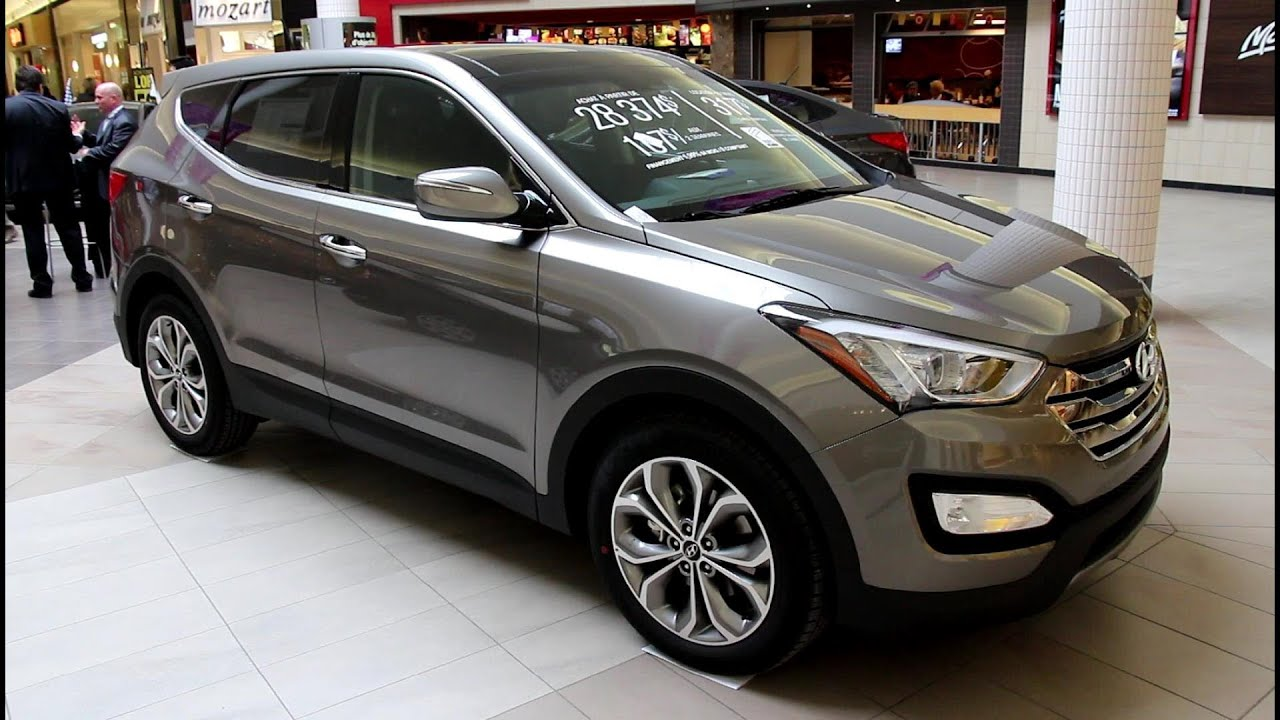 2013 Hyundai Santa Fe Sport 2.0T AWD   Exterior And Interior Walkaround    Canon T4i Video   YouTube