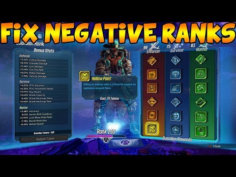 Borderlands 3: How To Fix Negative Guardian Ranks