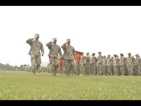 AFN Casey - 210th Fires Brigade render farewell to their commander
