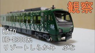 鉄道模型 Nゲージ【今さら動画】HB-E300系「リゾートしらかみ」(ぶな編成)4両セットを改めて見てみる