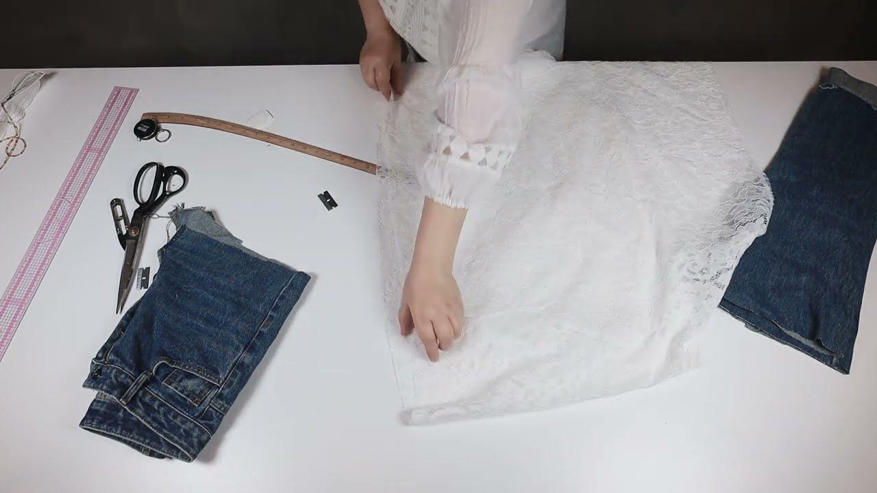 데님 청바지 리폼 활용하기 3탄!/너무 이쁘다!!!! The third time to use denim jeans for reform!/It's so pretty!