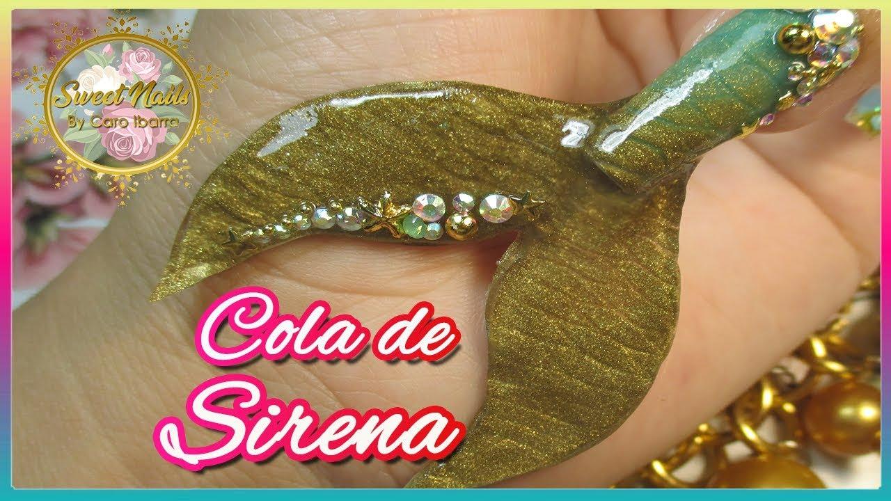 Dorable Sirenas Esmalte De Uñas Cola Viñeta - Ideas Para Pintar Uñas ...