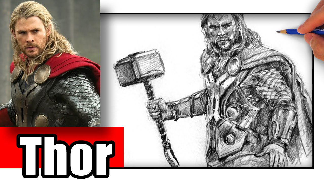 How To Draw Thor In Pencil