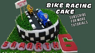 How to make bike racing cake
