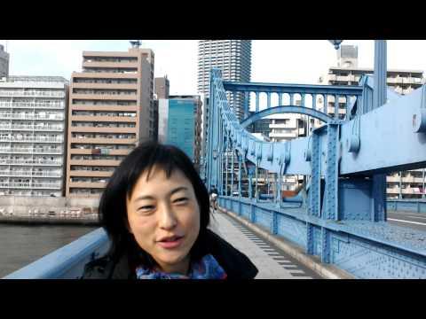 Kiyosubashi Bridge over Sumida River in Chuoku Tokyo Japan