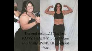 P90X RESULTS - BEST FEMALE TRANSFORMATION 136 lbs lost Kathy Connell McDonald