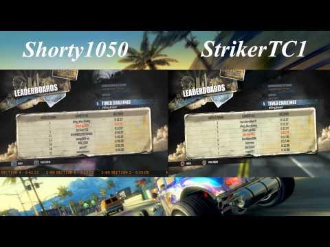 Burnout Paradise Timed Challenges Split Screen W/ Shorty1050