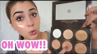 ULTIMATE GLOW KIT TRY ON & REVIEW Anastasia Beverly Hills