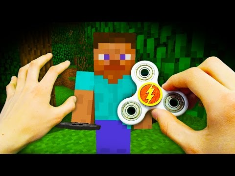 Thumbnail: REALISTIC MINECRAFT - STEVE GETS A FIDGET SPINNER! ⚡️