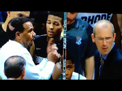 Providence College Friars vs Rhode Island Rams - Ed Cooley and Dan Hurley go at it! Dec 5, 2013