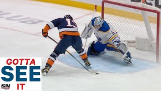GOTTA SEE IT: Mathew Barzal Scores Ridiculous Between-The-Legs Goal vs. Sabres