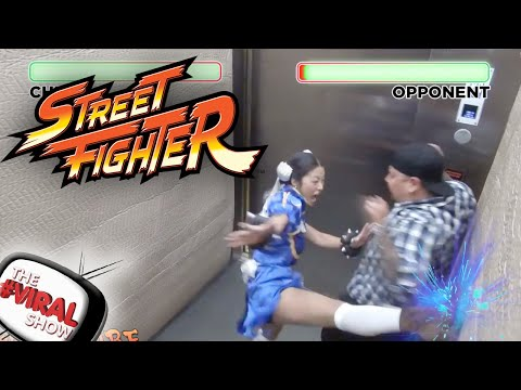 STREET FIGHTER BROMA EN EL ASCENSOR!
