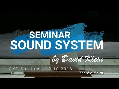Seminar Sound by David Klein - 10 Oktober 2018 streaming vf