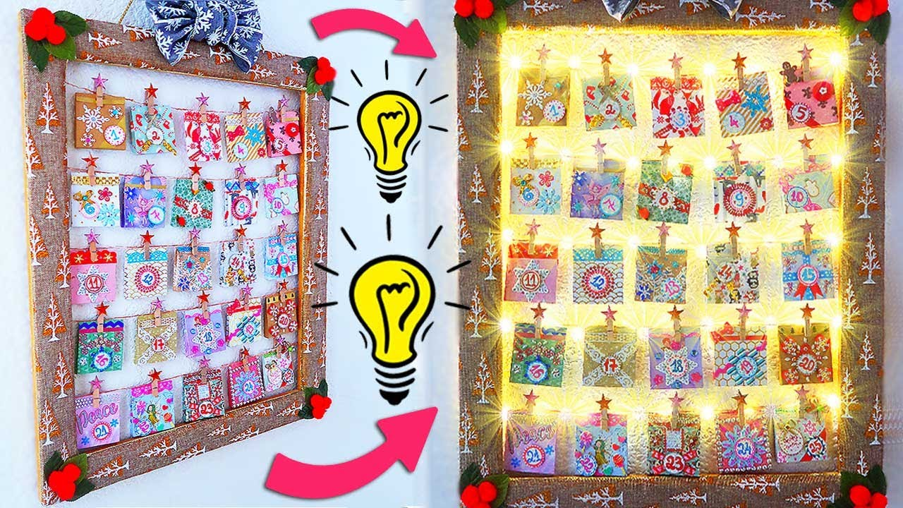 Christmas Advent Calendar    Wall Decor DIY Holiday Room Decor