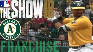MLB The Show 18 (PS4) - Athletics vs Rangers Game 3 (Full Broadcast Presntation)