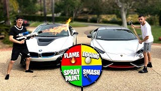 Download If you lose, you HAVE to spin the MYSTERY WHEEL.. (Super Car DESTROYED) Mp3 and Videos