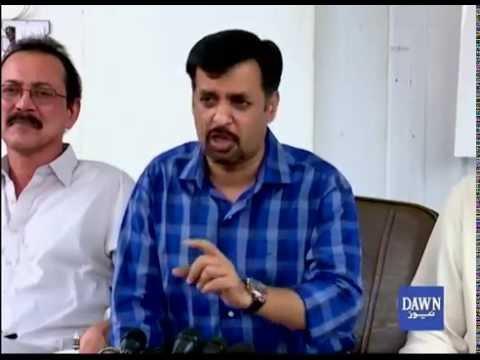 Mustafa Kamal question about Farooq Sattar press conference