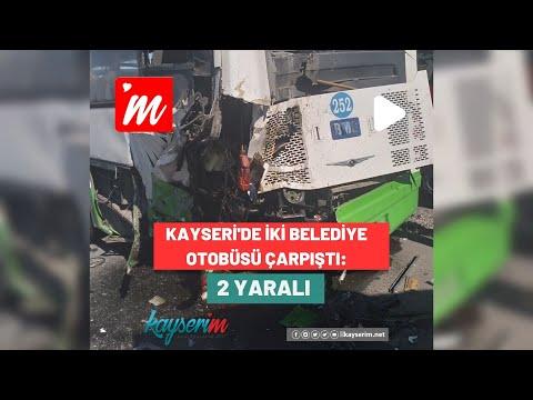 Kayseri'de İki Belediye Otobüsü Çarpıştı: 2 Yaralı