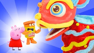 Peppa Pig and the Doh-Dohs Dragon Dance | Chinese New Year | Play-Doh Show | Play-Doh Official