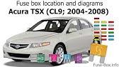 [FPWZ_2684]  Fuse box location and diagrams: Acura TL (UA6/UA7; 2004-2008) - YouTube   2008 Acura Tl Fuse Box Locations      YouTube