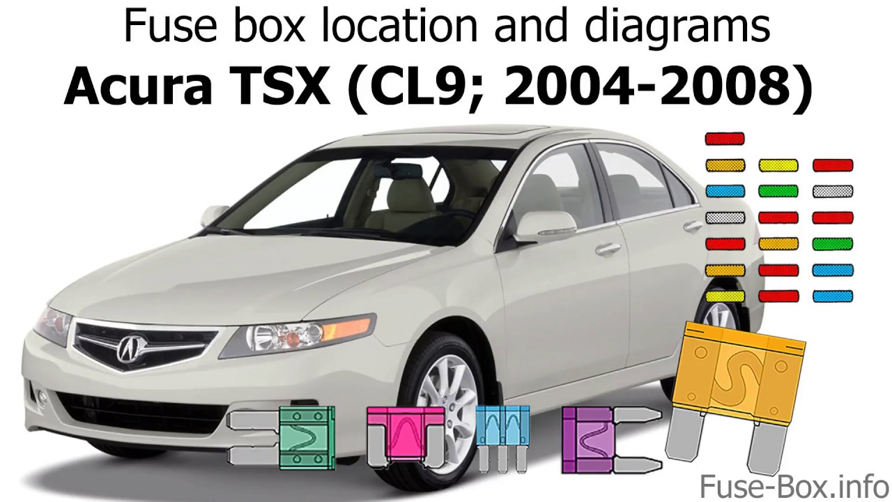 fuse box location and diagrams acura tsx cl9 2004 2008  [ 1280 x 720 Pixel ]
