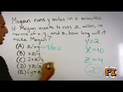 SAT Math Prep: Using Your Own Numbers