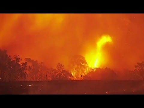 Bushfires raging in Australia