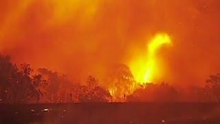 (AUSTRALIA 2013) Bushfires raging in Australia