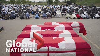 Global National: June 12, 2021 | Funeral service held for Canadian family killed in attack