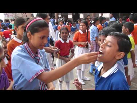 Rakhi celebration in school, DPS Arthala