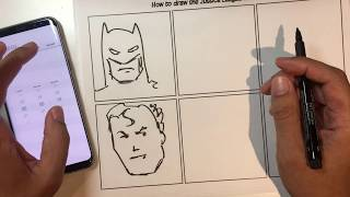 Speed Challenge: Draw the full Justice League in 60 seconds