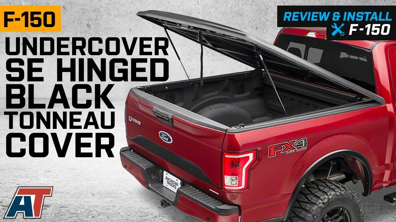2015 2018 F150 Undercover Se Hinged Black Tonneau Cover W 5 5 6 5 Bed Review Install Youtube