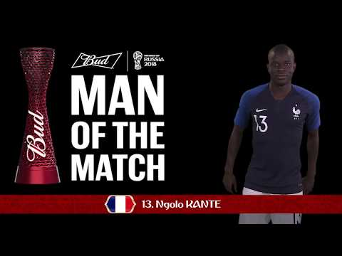 N'Golo KANTE (France) -  Man of the Match - MATCH 37