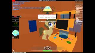 Roblox My Little Pony Roleplay Part 1: The 10th Doctor (from Doctor Who)... I think!