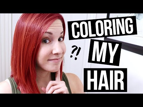 Dyeing My Hair Red!!