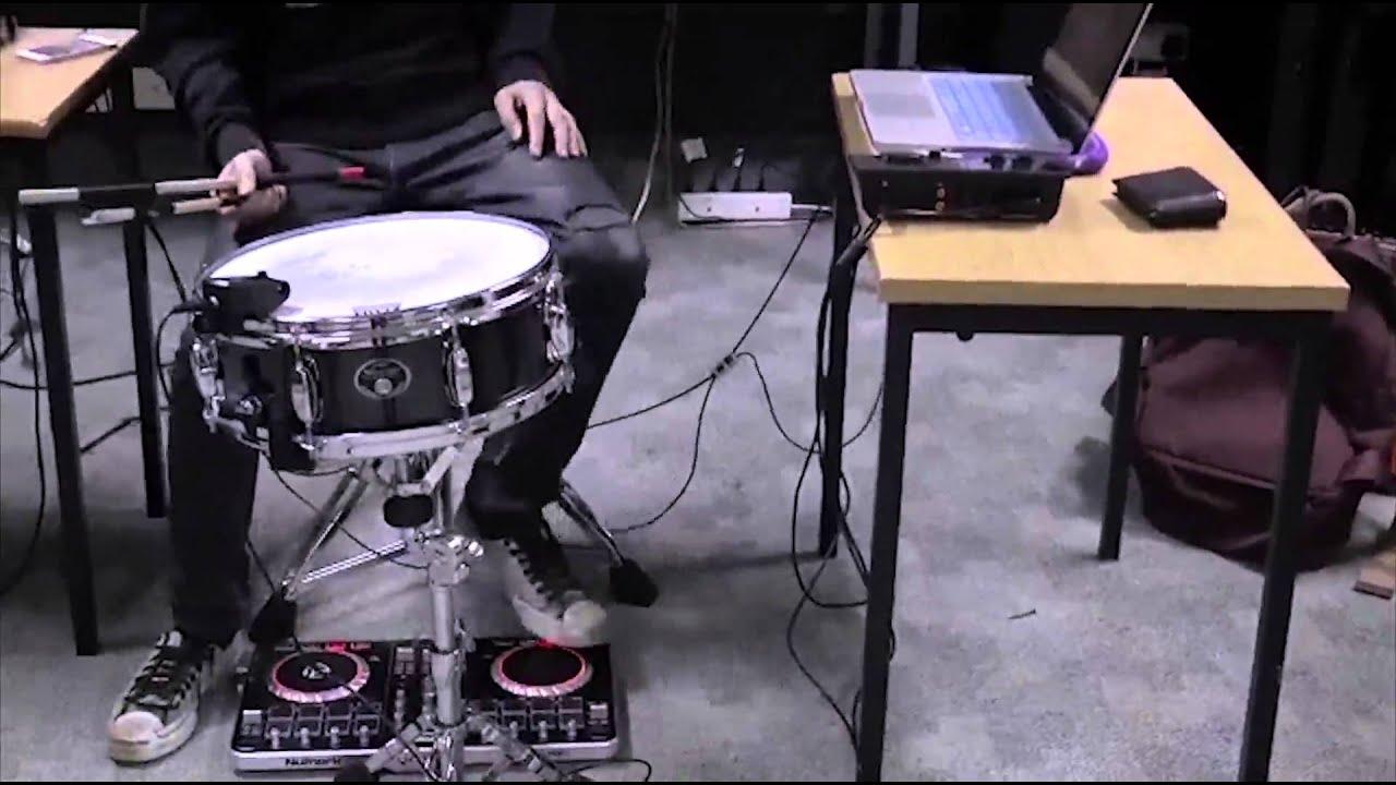 Max/MSP project - Drum module FX controller by DJ jog wheel controller