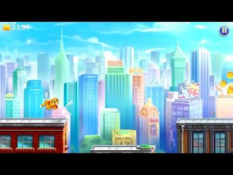 Barsik: Escape from New York (by Nevosoft Inc) - runner game for android - gameplay.