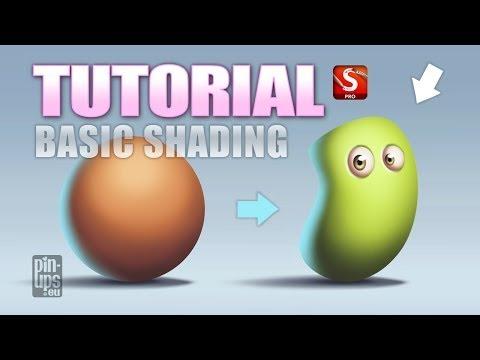 Autodesk Sketchbook Pro Tutorial : Basic Shading