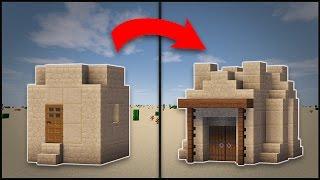 minecraft desert village remodel hut buildings houses build blueprints diy rizzial church designs transform mosque seed tutorial easy building da