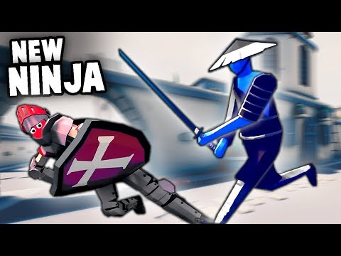 TABS New NINJA Samurai vs KNIGHTS (Totally Accurate Battle Simulator New Units)