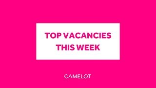 Camelot Careers: Hot Jobs This Week | 13th Nov 2018