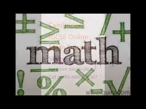 Math tutor for IGCSE(0580,0607&0606),AICE,Edexcel,GCSE in Paris call on Skype:ykreddy22