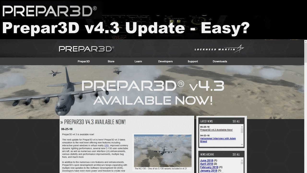 [PREPAR3D4] Prepar3D Update 4 3 - Easy? (ENGLISH)