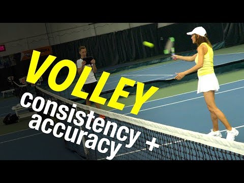 VOLLEY Tennis Lesson: Step by Step ACCURACY & CONSISTENCY Progressions
