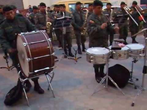 BANDA DE LA III DIVISIÓN DE EJÉRCITO TARQUI (EJÉRCITO ECUATORIANO) EN CAÑAR, 28 DE JUNIO DEL 2013...