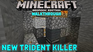 New trident killer to replace the old. Minecraft Walkthrough on Truly Bedrock s1ep53