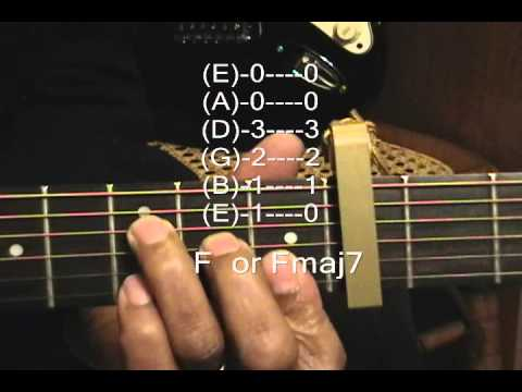 Rebecca Black Dave Days Style Guitar Chord TABS Tutorial #105 How To Play Guitar Capo 4 CGFAmFmaj7