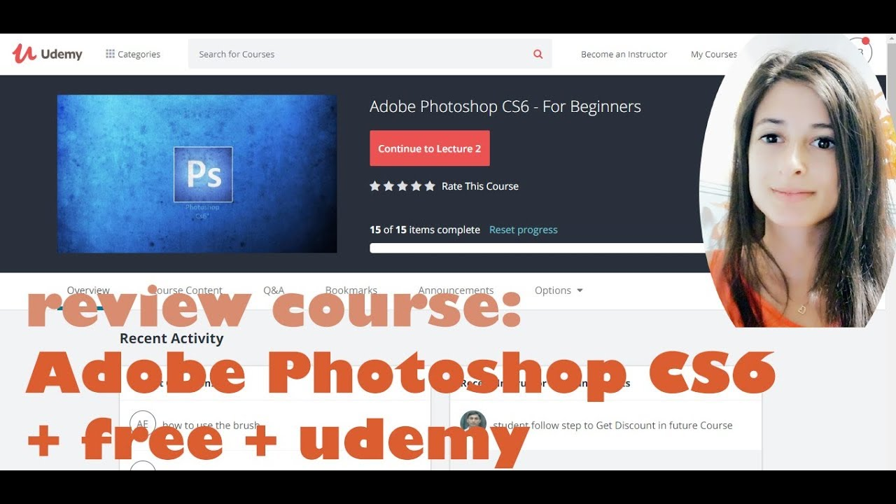 Adobe Photoshop CS6 - Udemy - free | Reviewing online tech courses